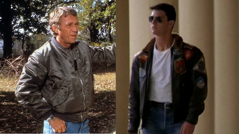 Tom Cruise and Steve McQueen Bomber Jacket