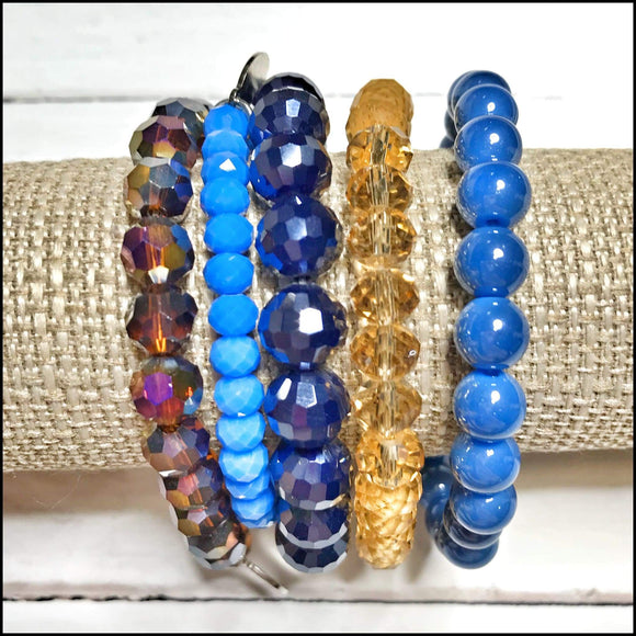 Beaded Bracelet Stack The Mix Mercantile - Sugar Stacks Bracelet