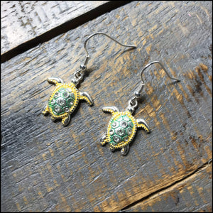 Sea Turtle Drop Earrings Sunshine & Pineapples Boutique Earrings
