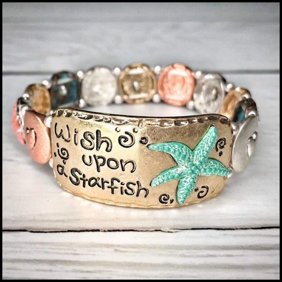 Wish Upon A Starfish Bracelet Sunshine & Pineapples Boutique