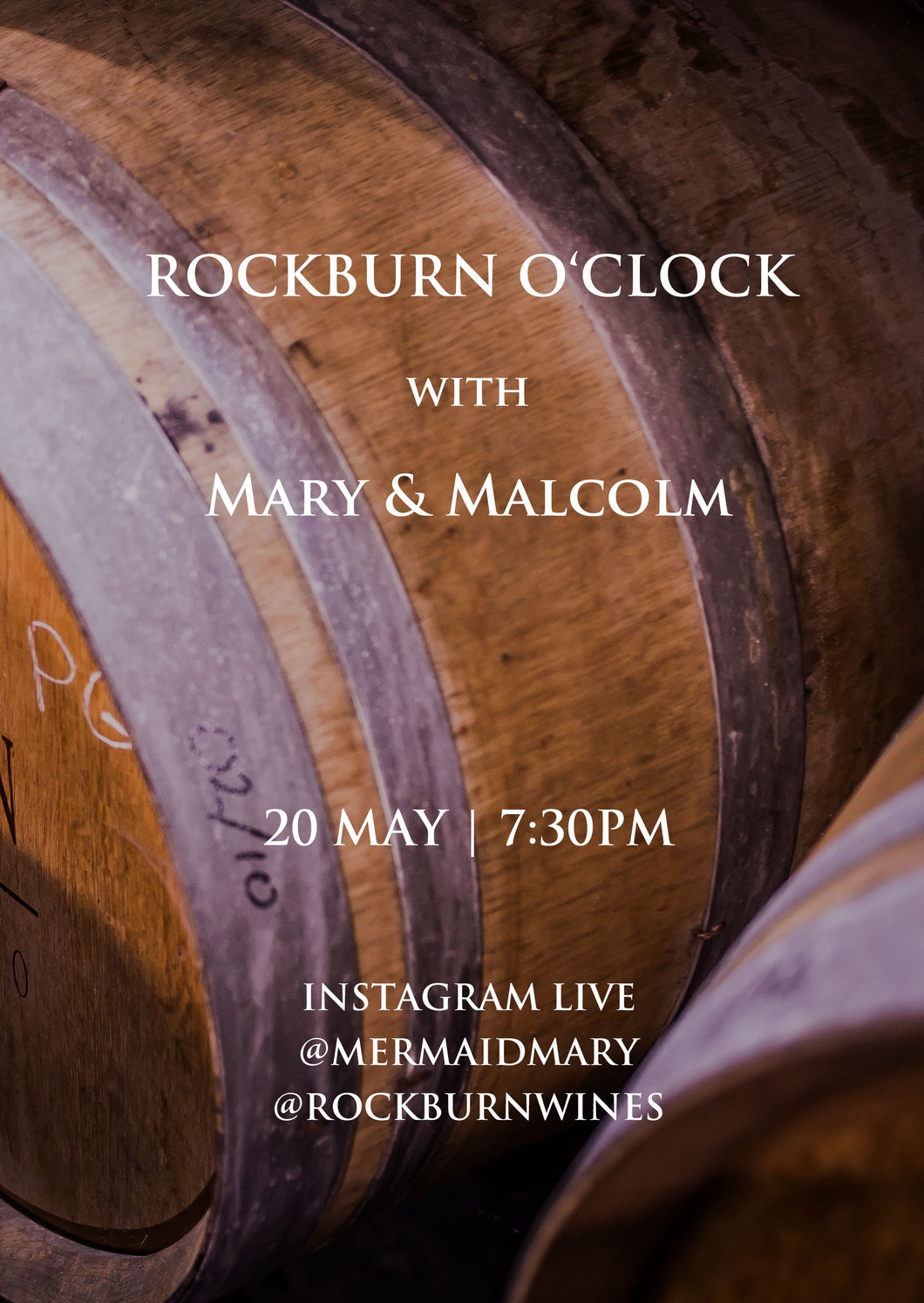 Instagram Live | Mary and Malcolm | 22 May | 2 pack special