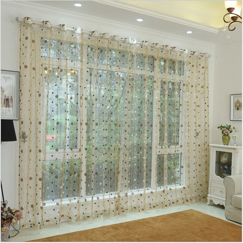 Marseille, Modern Window Sheer Curtain Panel - Dolce Mela DMC479