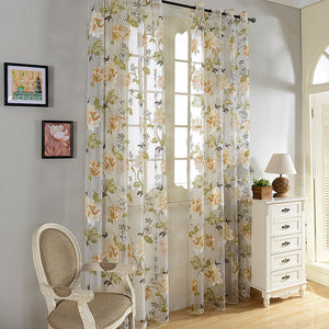 Palm Springs, Modern Window Sheer Curtain Panel - Dolce Mela DMC491