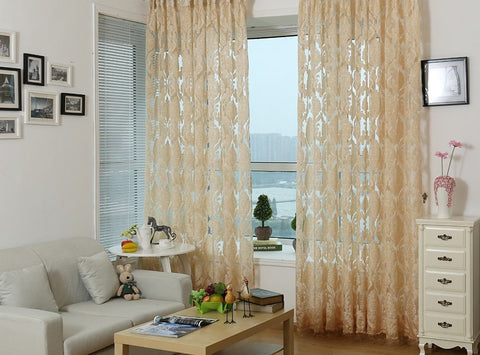 Rome, Modern Window Sheer Curtain Panel - Dolce Mela DMC475