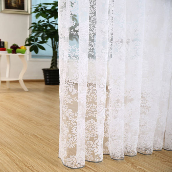 Patras, Modern Window Sheer Curtain Panel - Dolce Mela DMC481