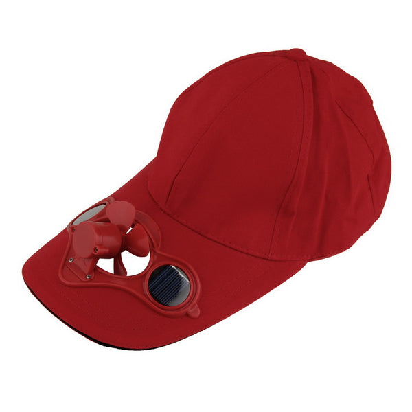 Unigolf Solid Outdoor Cap with Solar Powered Fan