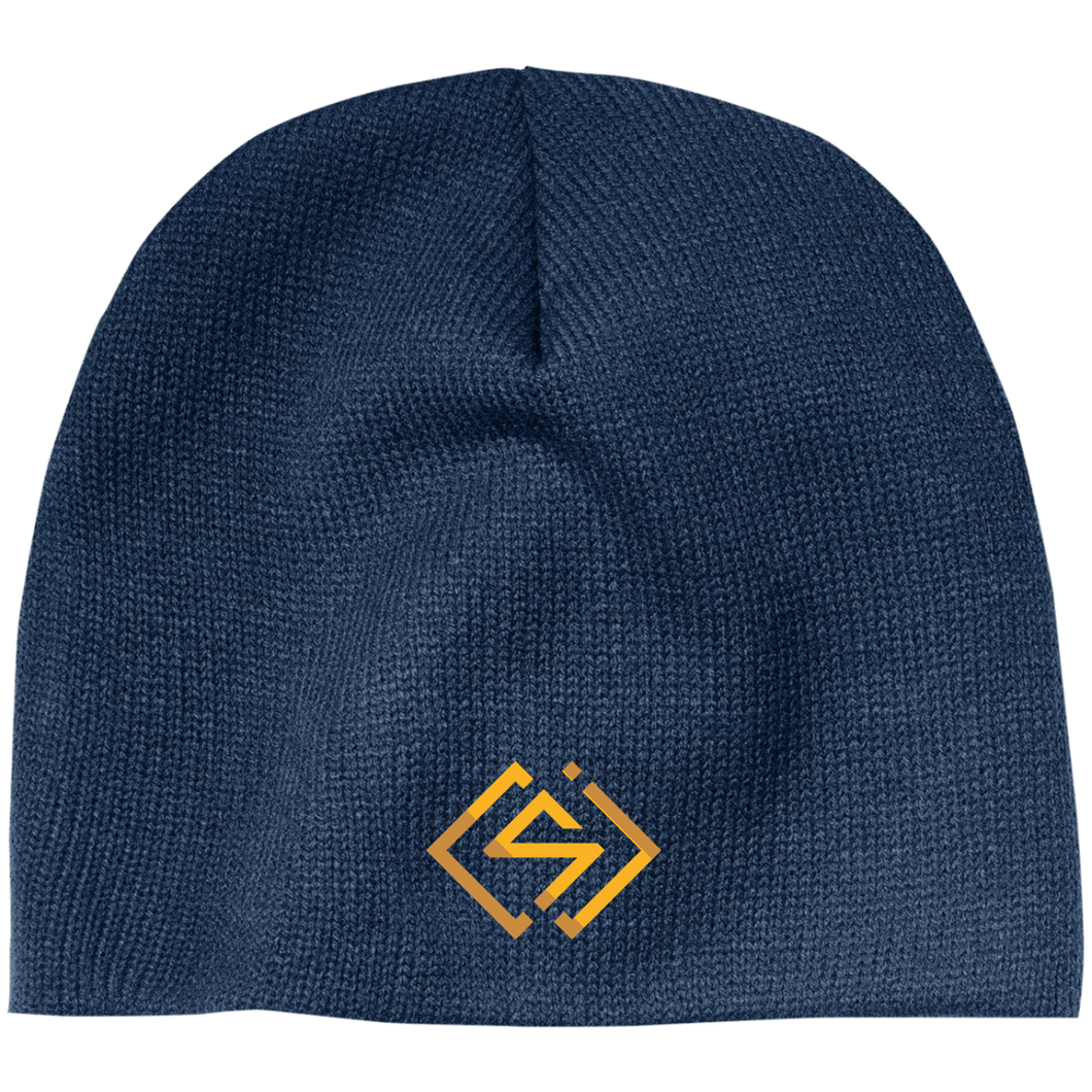 SC&J Logo Beanie! (Blue with gold lettering)