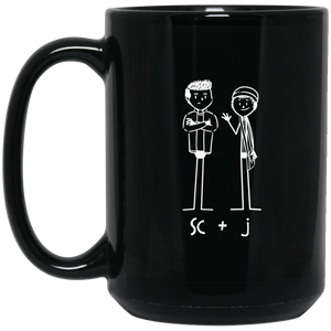 "SC&J ""Buddy"" 15 oz. Black Mug"