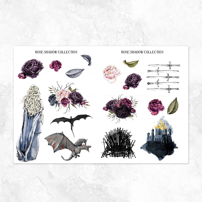creepy Valentine Deco Sheet