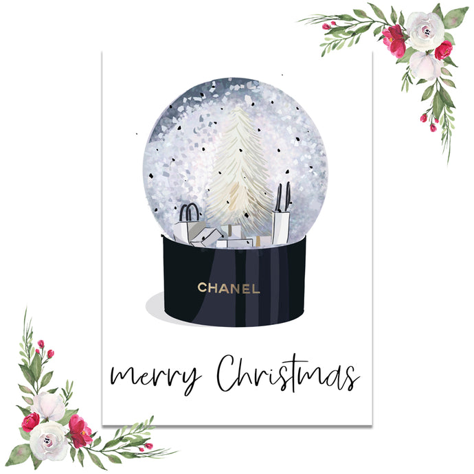Chanel Globe Merry Christmas Dashboard (Exclusive Clipart)