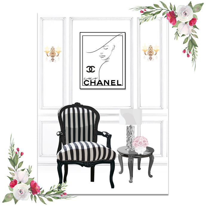 Chanel Living Room Scene Dashboard (Exclusive Clipart)
