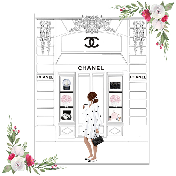 Chanel Shopping Dashboard (Exclusive Clipart)