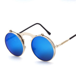 Fold Out Glasses | Gold & Blue