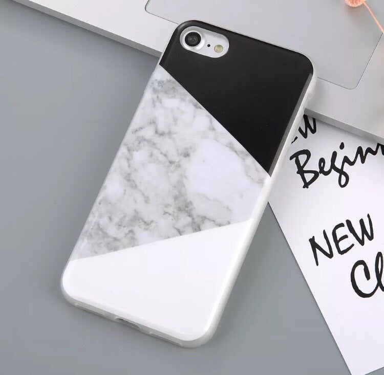 reputable site b9eb2 f0244 Luxury Soft Silicone Marble Style Case for iPhone