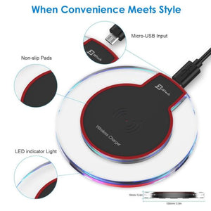 Wireless Charger for iPhone 8, 8 Plus, iPhone X, Samsung S7, S8 & S9