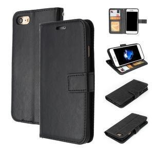 Luxury Leather Flip Wallet iPhone Case for 6, 6 Plus, 7, 7 Plus, 8, 8 Plus & iPhone X