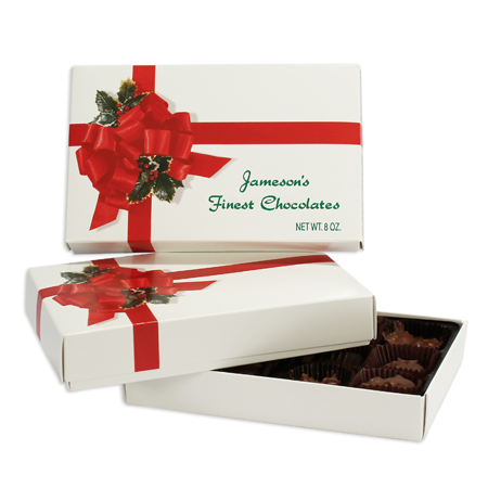 1/2 lb Rectangular Cover 1 layer Ribbon 'n' Holly (250/cs)