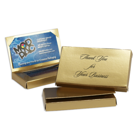 Business Card window with flap Gold Lustre (250/cs)