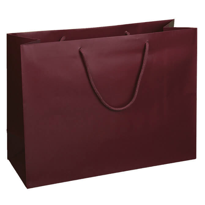 Burgundy Matte Euro Tote Shoppers