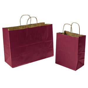 Burgundy Paper Shopping Bags