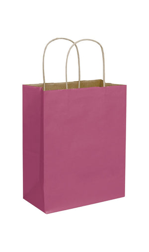 Cerise Paper Shopping Bags