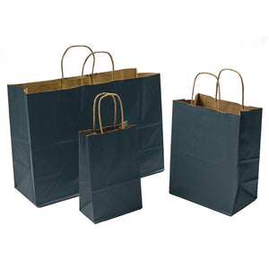 Charcoal Gray Paper Shopping Bags