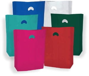 Colored High Density Plastic Merchandise Bags