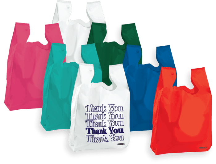 T-Shirt Bags Hi Density (Colored & Thank You)