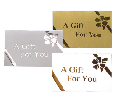 "Gift Cards - Printed ""A Gift for You"", Folding"