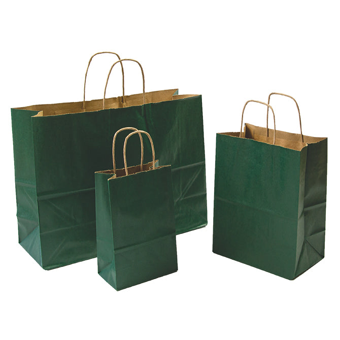Hunter Green Paper Shopping Bags