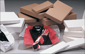 Apparel Boxes - White Gloss, 2 Piece Pop-Up Style (Economy)