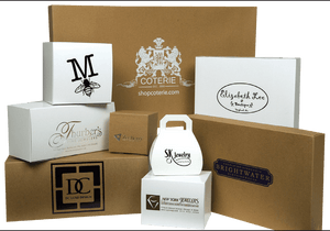 White Gift Boxes, Economy with Gray Interior