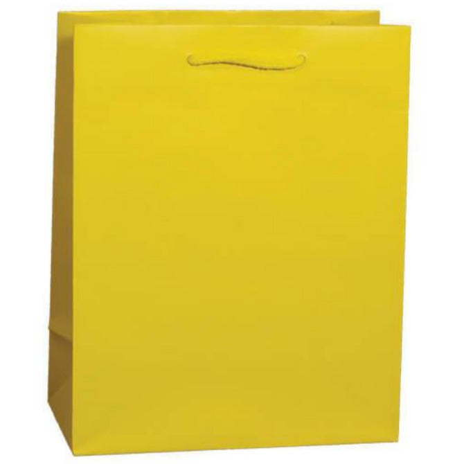 Lemon Matte Euro Tote Shoppers