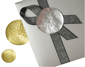 "Medallion Seals ""Floret"" Embossed, Self Adhesive Back"