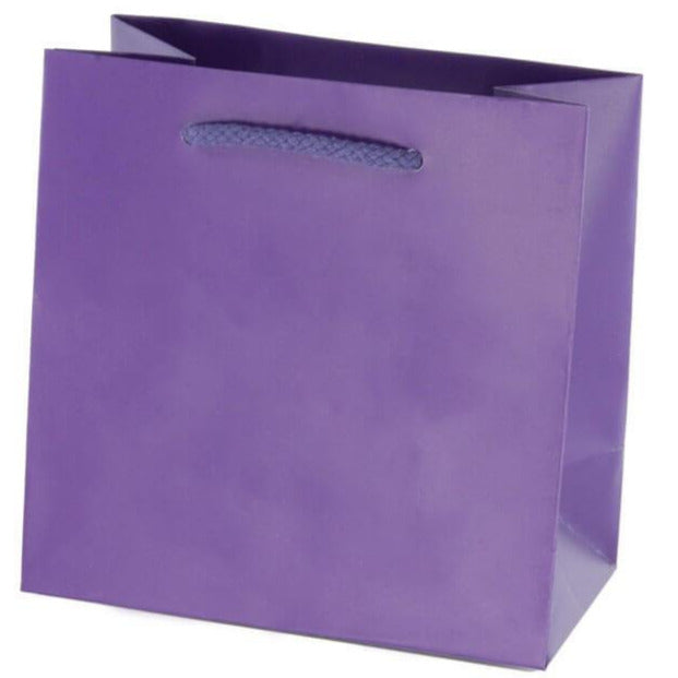 Purple Matte Euro Tote Shoppers