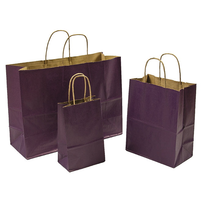 Purple Paper Shopping Bags