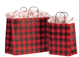 Red Buffalo Plaid Shoppers