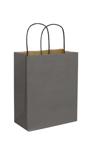 Storm Grey Paper Shopping Bags