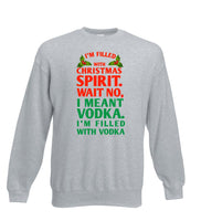 Filled With Christmas Spirit (Vodka) - Funny Christmas Jumper