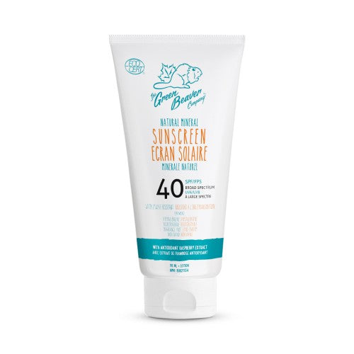 Green Beaver Adult Natural Mineral Sunscreen Lotion SPF 40