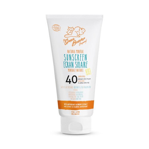 Green Beaver Kids Natural Mineral Sunscreen Lotion SPF 40