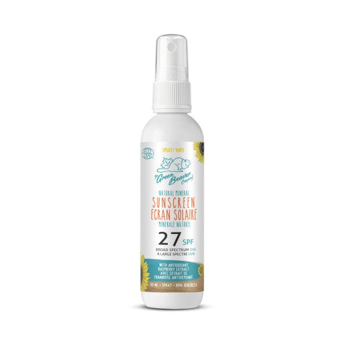 Green Beaver Adult Natural Mineral Sunscreen Spray SPF 27