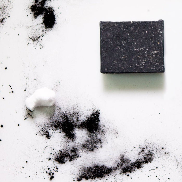 Apoterra Skincare Activated Charcoal + Dead Sea Salt Complexion Soap