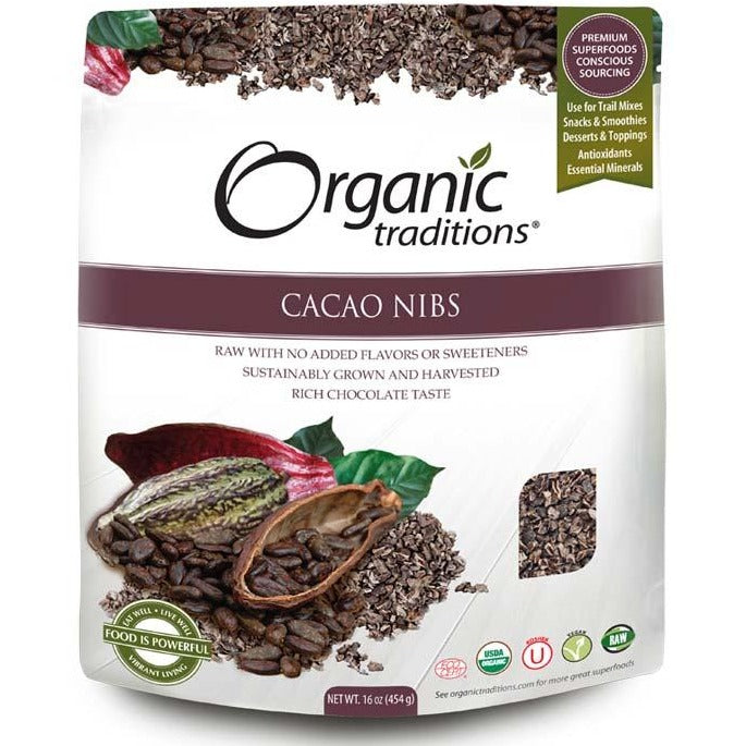 Organic Traditions Raw Cacao Nibs