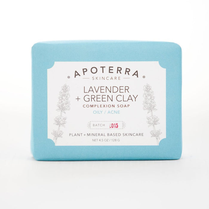apoterra lavender green clay soap