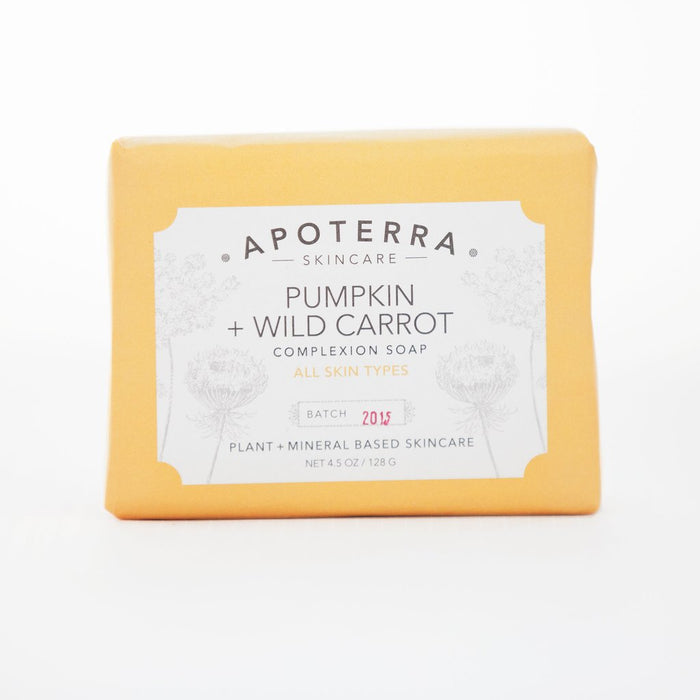 apoterra pumpkin wild carrot soap