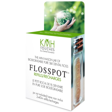 Brush With Bamboo Flosspot Biodegradable Pure Silk Dental Floss