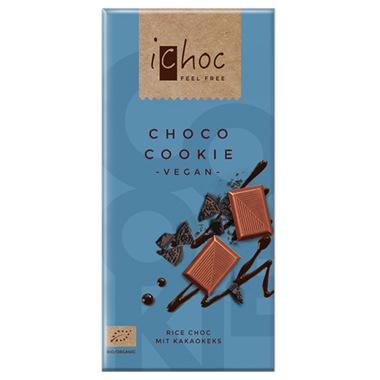 iChoc Choco Cookie Vegan Chocolate Bar