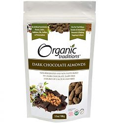 Organic Traditions Chocolate Covered Almonds 100g.