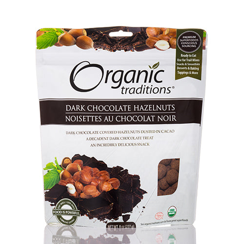 Organic Traditions Chocolate Covered Hazelnuts 100g.
